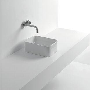 Reviews Normal Ceramic Rectangular Vessel Bathroom Sink ByWS Bath Collections