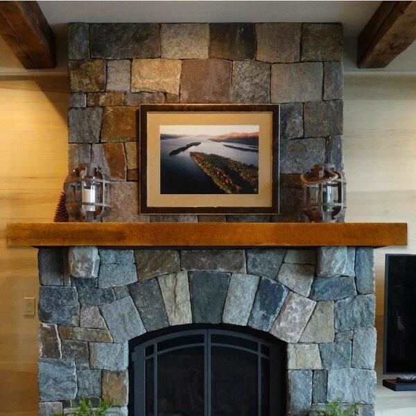 Reclaimed Oak Industrial Fireplace Shelf Mantel by Storied Boards