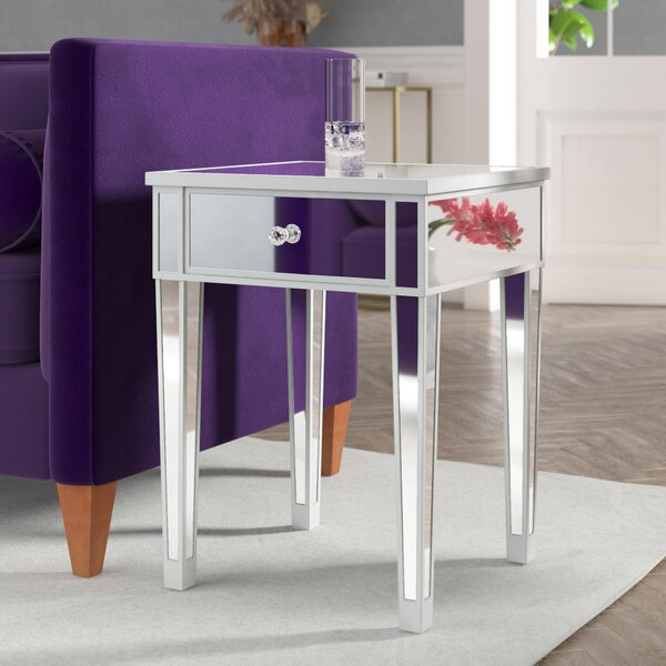 Claybrooks End Table with Storage by House of Hampton