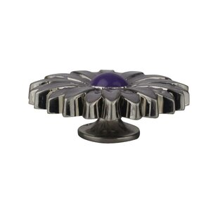 Handpainted Enamelized Zinc Aster Novelty Knob