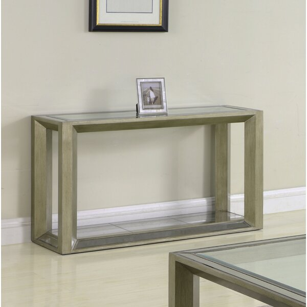 Laury Glass Console Table By Everly Quinn
