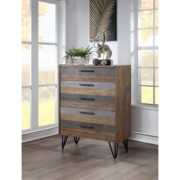 Amedeo 5 Drawer Chest By Union Rustic