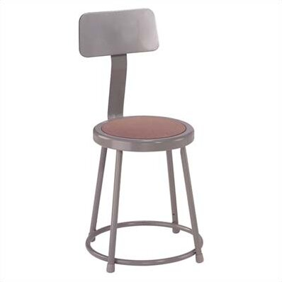 Stool with Backrest by National Public Seating