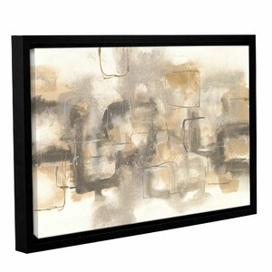 Platinum Neutrals I Framed Painting Print on Wrapped Canvas by Latitude Run
