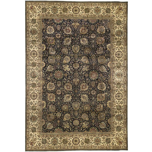 One-of-a-Kind Sona Hand-Knotted Black 11'10 x 17'1 Wool Area Rug