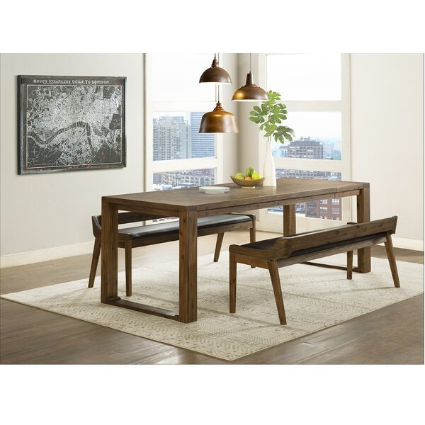 Bourgoin 3 Piece Drop Leaf Solid Wood Dining Set (Set of 3) by Foundry Select
