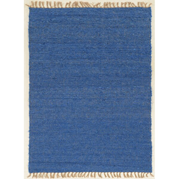Christenson Hand-Woven Blue Area Rug by Rosecliff Heights