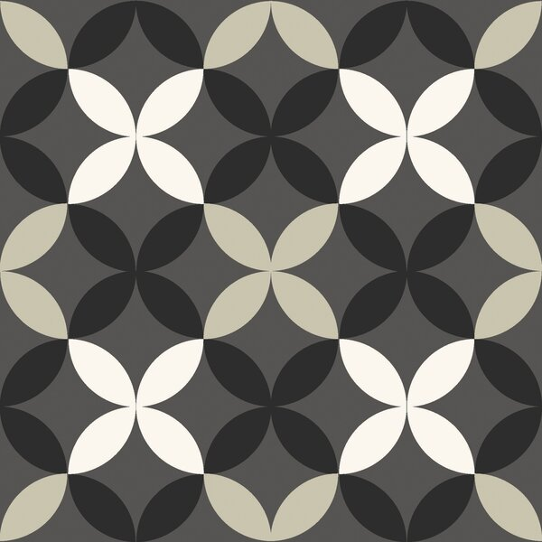 Clover 12 x 12 Vinyl Tile in Gray by WallPops!