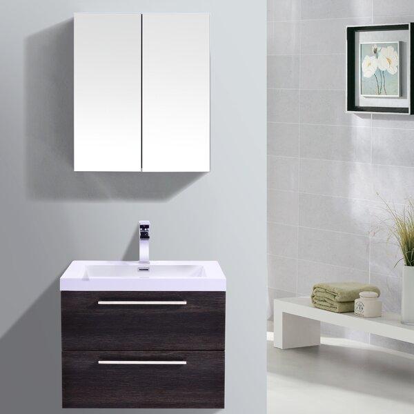 Sandifer 23 Wall-Mounted Single Bathroom Vanity Set with Mirror by Orren Ellis