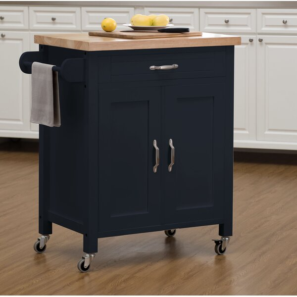 Philomene Contemporary Wood Kitchen Cart by August Grove