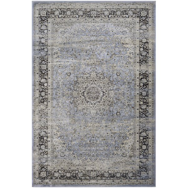 Connors All Over Sarouk Slate Blue Area Rug by Charlton Home