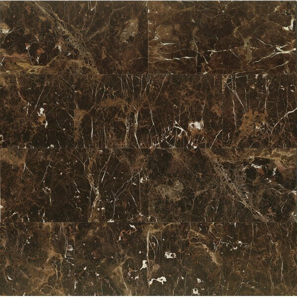 12 x 24 Marble Field Tile in Emperador Dark