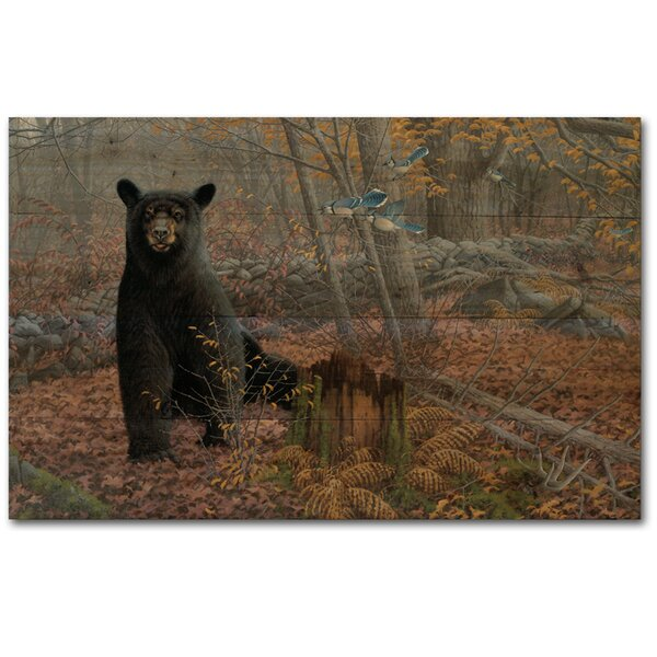 Stonewall Bear by Michael Sieve Painting Print Plaque in Black by WGI-GALLERY