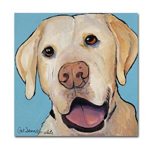 Lucky Dog Canvas Art Painting Print on Wrapped Canvas by Latitude Run