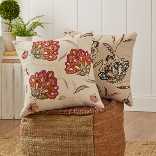 Odette Embroidered Felt Pillow Cover by Birch Lane™