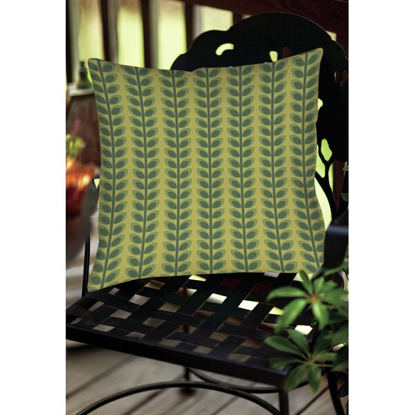 Tropical Breeze Patterns 39 Indoor/Outdoor Throw Pillow by Manual Woodworkers & Weavers