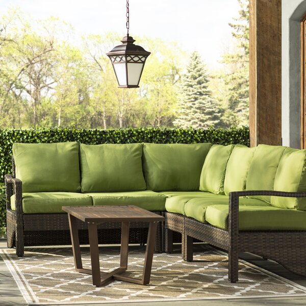 Coast 11 Piece Rattan Sectional Seating Group with Cushions by Latitude Run