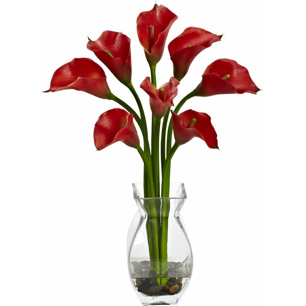 Classic Calla Lily Arrangement with Vase by Tori Home