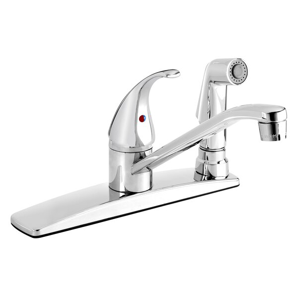 Essential Single Handle Kitchen Faucet with Side Spray by Keeney Manufacturing Company