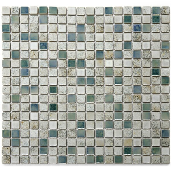 Terrene 0.6 x 0.6 Porcelain Mosaic Tile in Minerale Multi by Solistone