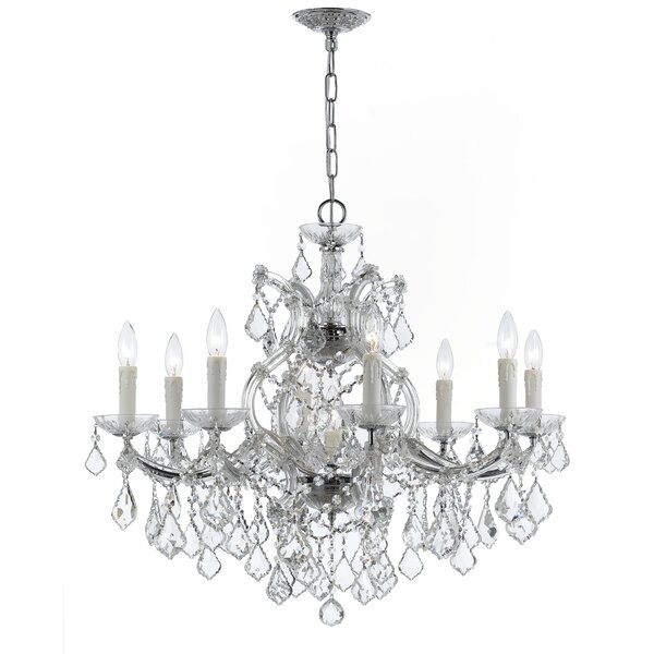 Griffiths 9 - Light Candle Style Classic / Traditional Chandelier with Crystal Accents by House of Hampton House of Hampton