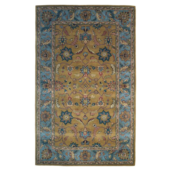 Wool Hand-Tufted Gold/Blue Area Rug by Eastern Weavers