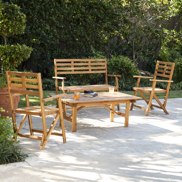 Ballidon Outdoor 3 Piece Seating Group (Set of 3) by Highland Dunes