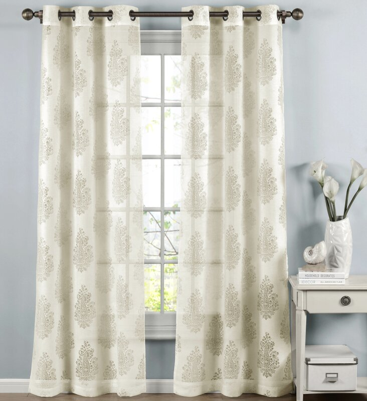 paige damask sheer curtain panels