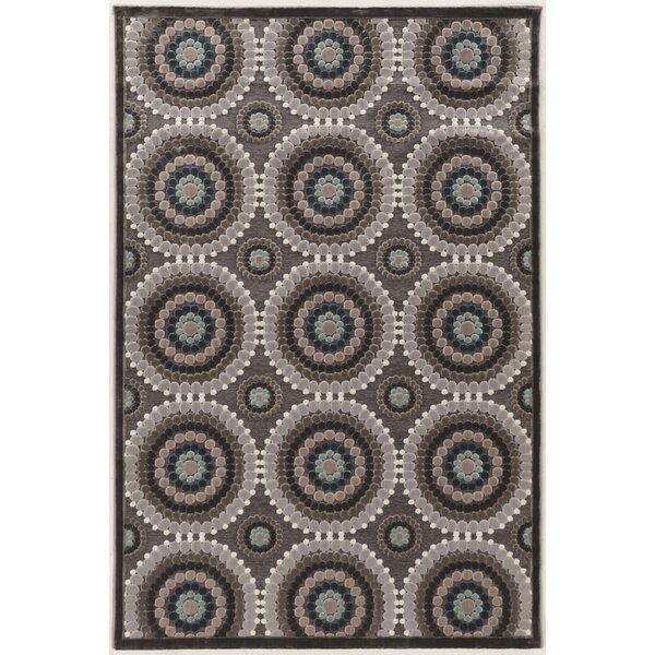 Cashion Cylinder Gray Area Rug by Red Barrel Studio