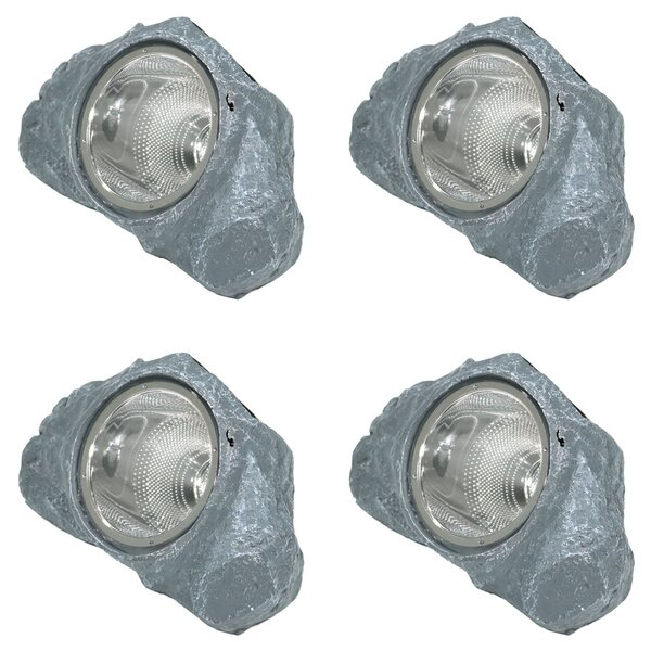 Solar-Powered Outdoor Rock Garden 1 Light Flood/Spot Light by Wildon Home ®