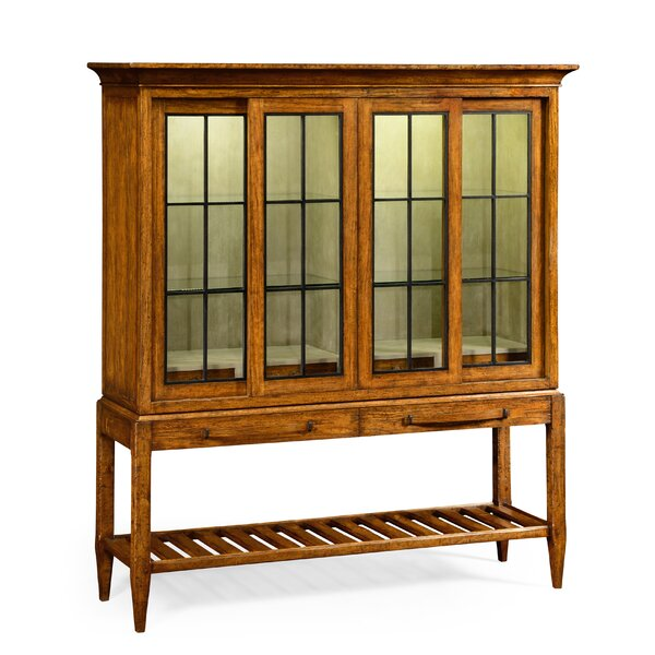 Glazed Double Lighted China Cabinet by Jonathan Charles Fine Furniture