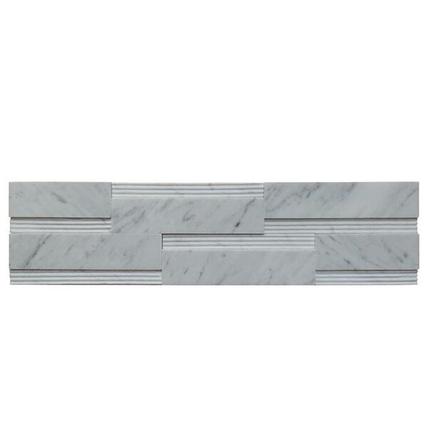 Wall Panel Polished Natural Stone Mosaic Tile in Carrara by QDI Surfaces