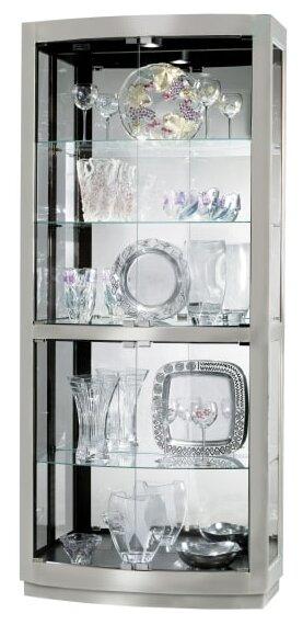 Bethzy Lighted Curio Cabinet by Latitude Run