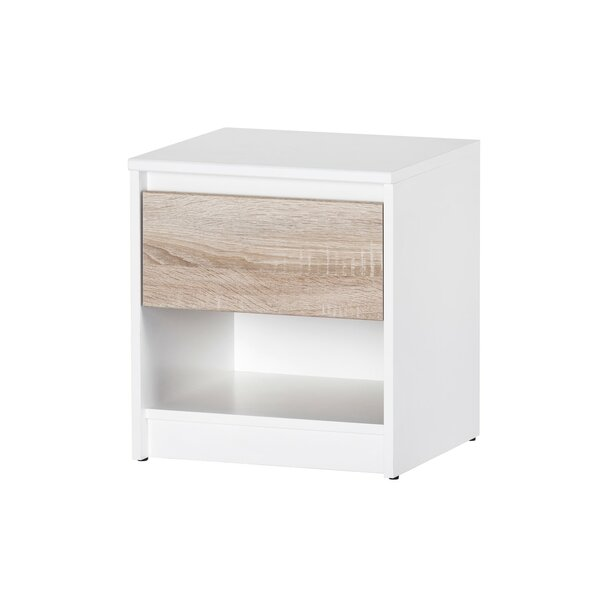 Tesch 1 Drawer Nightstand by Wrought Studio