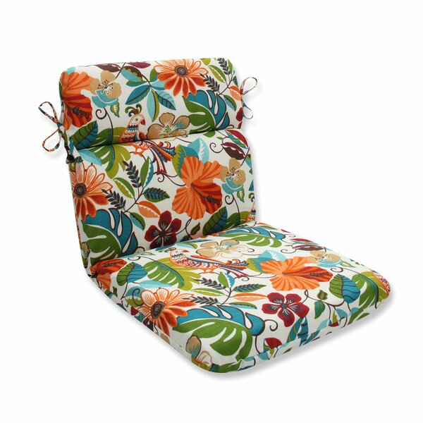 Guadaloue Florals and Leaves Indoor/Outdoor Dining Chair Cushion by Bay Isle Home