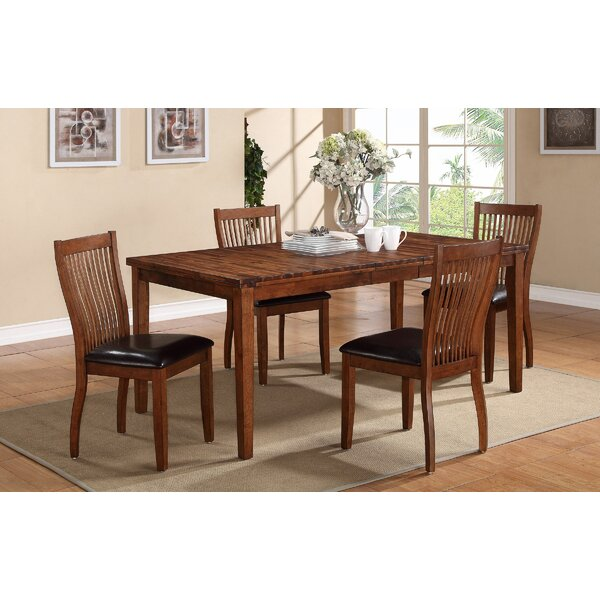Blanco Point 5 Piece Extendable Solid Wood Dining Set by Loon Peak Loon Peak