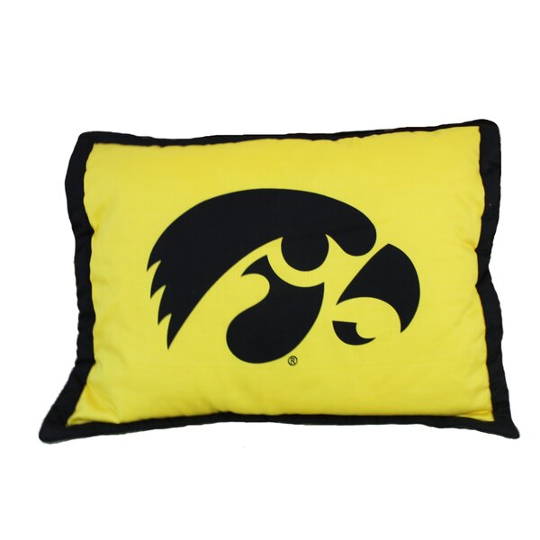 NCAA Iowa Pillow Sham by College Covers
