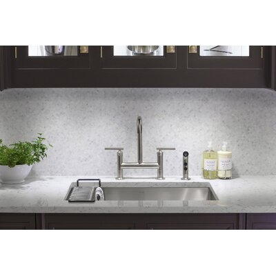 Deck Mount Kitchen Sink Faucet Polished Nickel 331 Product Photo