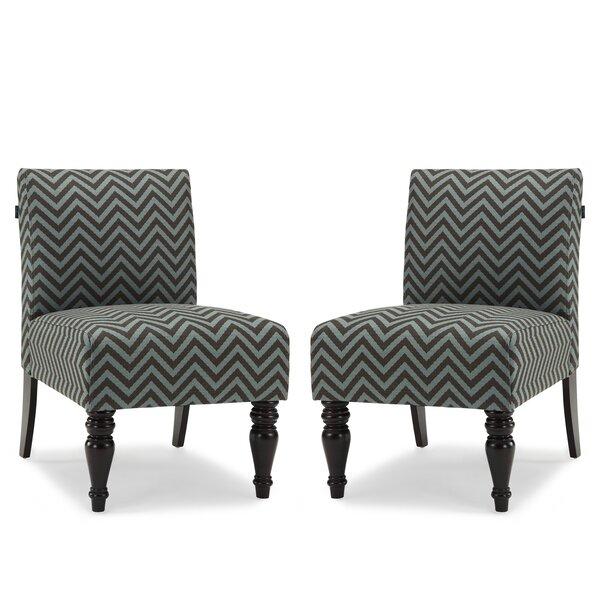 Sebago Slipper Chair (Set of 2) by World Menagerie