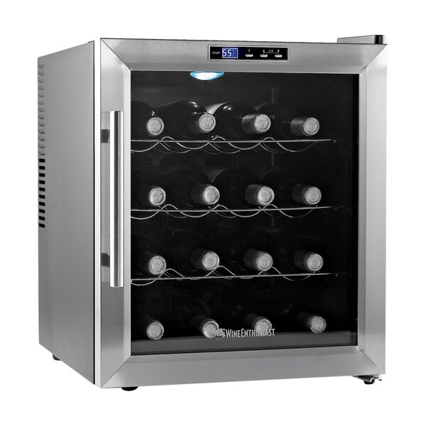 16 Bottle Silent Single Zone Freestanding Wine Cooler by Wine Enthusiast