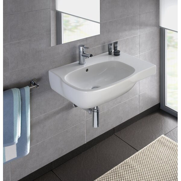 Moda Vitreous China 26 Wall Mount Bathroom Sink with Overflow by Bissonnet