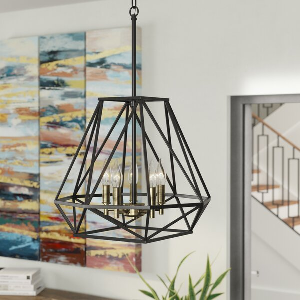 Lawrence Hill 5-Light Geometric Chandelier by Wrou