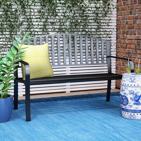 1 Ditmars Steel Park Bench by Wrought Studio