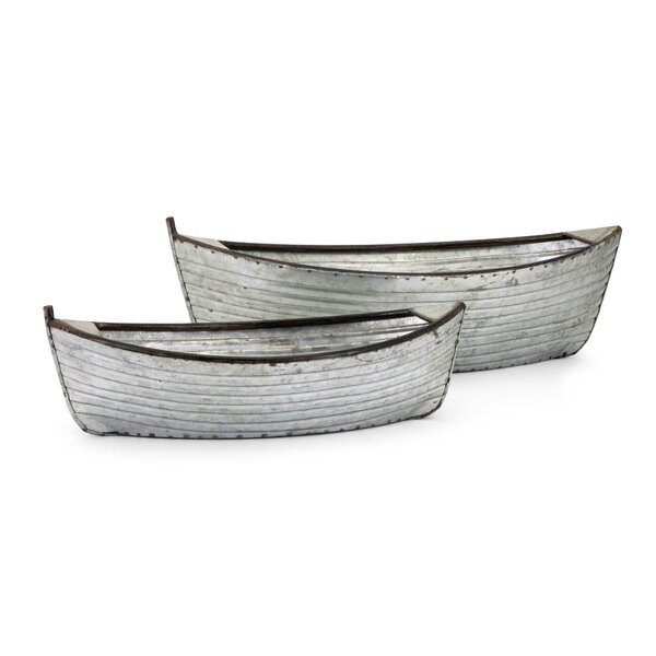 Westlake Boat 2-Piece Planter Box Set by Millwood Pines