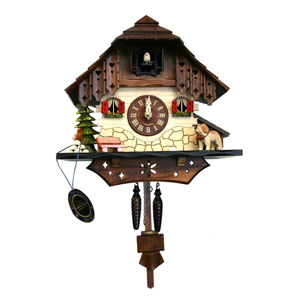Battery-Operated Forest Cuckoo Wall Clock by Loon Peak