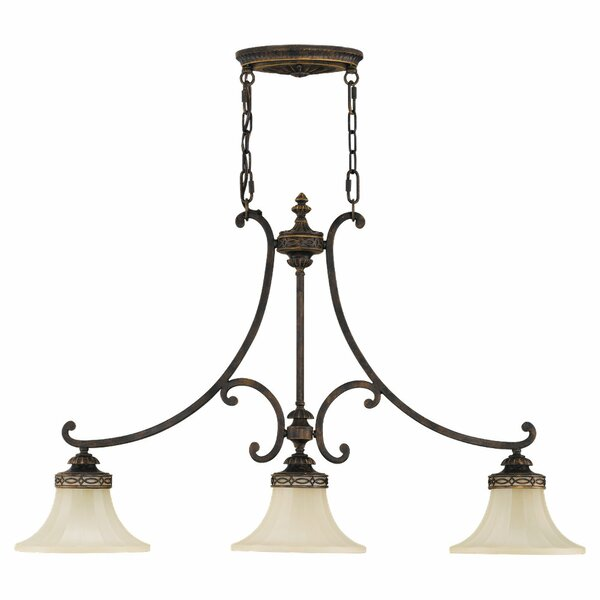 Linda 3-Light Kitchen Island Pendant by Fleur De Lis Living