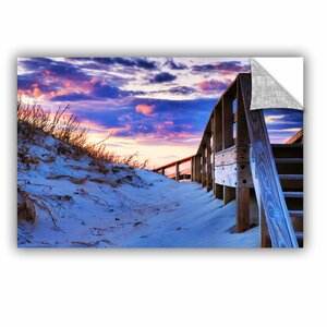 ArtApeelz Sunset At Ocracoke by Steve Ainsworth Photographic Print on Canvas by ArtWall