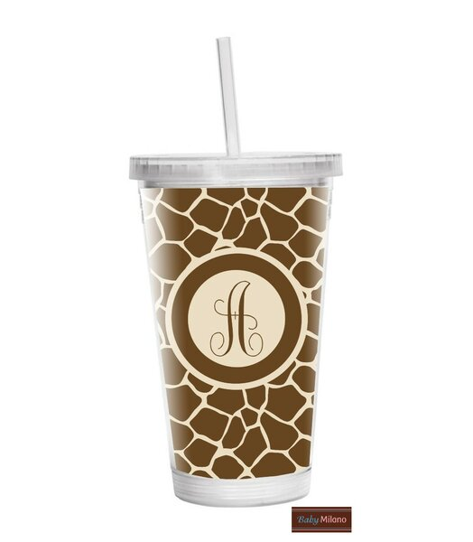 Giraffe 16 oz. Plastic Travel Tumbler by Baby Milano