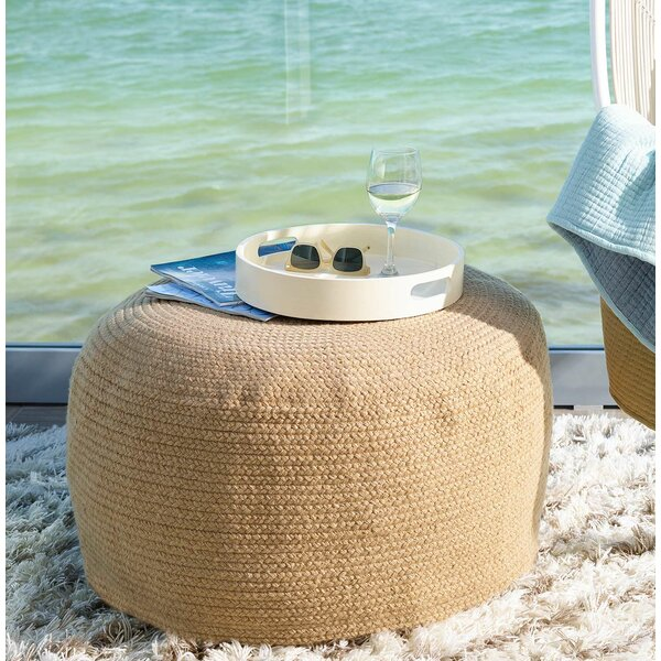 Braided Natural Indoor/Outdoor Pouf 30