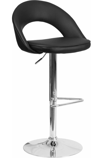 Whelan Rounded Back Adjustable Height Swivel Bar Stool by Orren Ellis